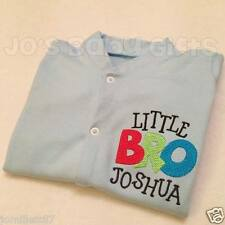 Personalised Boys 'Little Bro' Sleepsuit Baby Grow, Unique Clothing, Any Name
