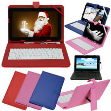"""Leather Folder Pouch Cover Case With USB Keyboard for 10"""" inch Android Tablet PC"""
