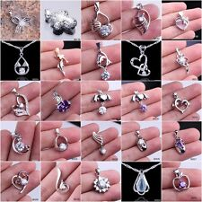Fashion Jewelry Dazzling 925 Sterling Silver Necklace Pendant Christmas #159-241