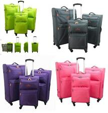 Worlds Lightest Suit Case Cabin Bag Trolley Cases Luggage 4 Spinner Wheels BNWT