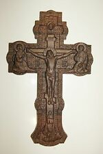 Jesus on the Cross Large wood carved religious God icon with excellent details