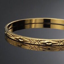 NEW 18K YELLOW GOLD FILIGREE BANGLE 4.5MM WIDTH WITH WARRANTY - MASSIVE SALE!!