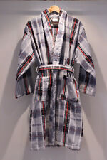 Dressing Gown Mens Check 100% Cotton