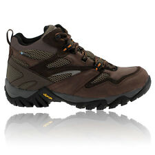 Hi-Tec Mens Alpha Trail Mid Brown Waterproof Trail Walking Hiking Boots Shoes