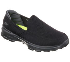 53980 BLACK SKECHERS SHOES GO WALK 3 MEN MESH SLIP ON WALK SPORT GOGA MAT SHOCK