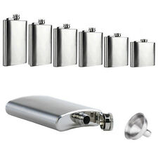 Hot Liquor Stainless Steel Pocket Screw Cap Hip Flask with Funnel 6 8 10 18 oz