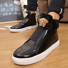 Fashion Occident Mens Punk Ankle Boots England-Style Hip Hop Casual Knight Shoes
