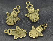 20/50pcs Zinc alloy Lovely Angel Charm Pendant Fit Jewelry Finding 19x13mm