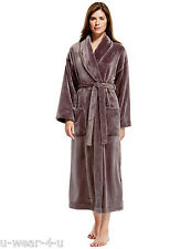 MARKS & SPENCER M&S COLLECTION SHIMMER SOFT DRESSING GOWN FLEECE WARM WINTER
