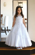 NEW FORMAL YOUNG LADIES WHITE DRESS CHRISTENING GOWN CONFIRMATION 1ST COMMUNION