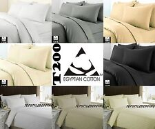 Luxury100% Egyptian Cotton Duvet Quilt Cover Pillow case Bedding Set All Sizes