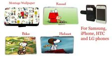 Snoopy Charlie Brown Comic leather phone case iPhone 4 5 6 Samsung S3 S4 Mini,S5