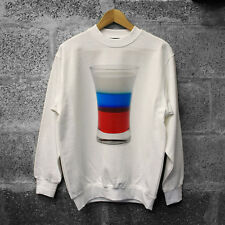 Russian Vodka Sweatshirt, POCCNR shot glass jumper Sizes S-XXXLSizes S-XXXL