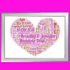 HEART WORD ART PERSONALISED VALENTINES GIFT FOR HIM  BOYFRIEND HUSBAND LOVE YOU