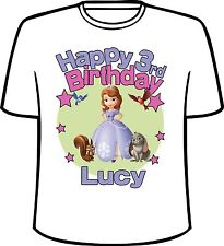 Many Tee Colors-Personalized Sofia The First Birthday T-Shirt