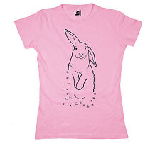 Easter Bunny Connect The Dots Rabbits Holiday Funny Cute Egg - Womens T-Shirt