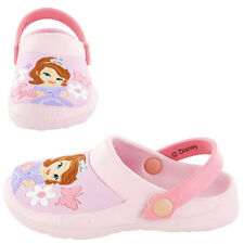 New Girls Disney Sofia The First Clogs Shoes Sandals Size 6 7 8 9 10 11 12