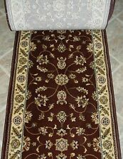"""152058 - Rug Depot Hall and Stair Runner Remnants - 26"""" Wide - Brown Rug Runner"""