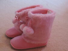 NWT girls BOOTS 3 9 gymboree LOVABLE GIRAFFE pink furry FUR sole SHOES~pic SIZE