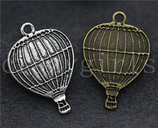 15pcs Antique Silver/Bronze Hot air ballon Jewelry Finding Charm Pendant 24x17mm
