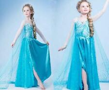 FROZEN DRESS ELSA PRINCESS DRESS KIDS COSTUME PARTY FANCY SNOW QUEEN Skirt