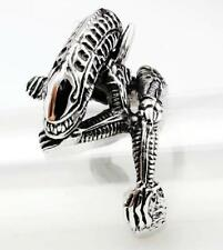 316L Stainless Steel Hell Alien Vintage Layer Ring  Size8 9 10 11 12 13 14