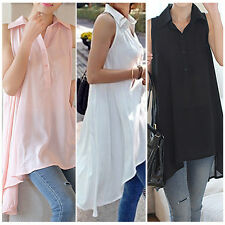 M-XXL Fashion Women's Long Sleeve V-Neck Loose Blouse Lady Casual Long Top Shirt
