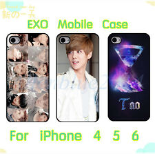 New Kpop EXO K M Hard Case Cover For Apple iPhone 4 4S 5 5S 6 6P Luhan Sehun Tao