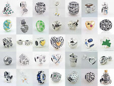 Authentic Sterling Silver 925 European Charm Love, Mom, Daughter, Dog, Pet Bead