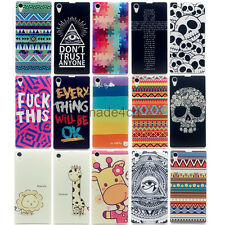 New Hot Fashion Patterned PC Hard Back Cover Case Skin For Sony Xperia Z1 L39H