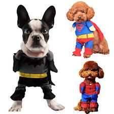 Batman/Spiderman Dog Fancy Dress Clothes For Pets Cat Costume Outfit Shawl