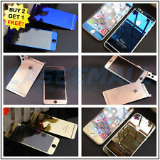 Front Back Mirror Effect Color Tempered Glass Screen Protector + Free Case Cover