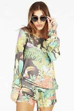 $108 NWT Wildfox Couture Jungle Party Tropical Baggy Beach Jumper Sweatshirt