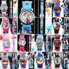 1pcs 3D Blue/PixarCar Cars Tom and Jerry Children's Watches Xmas gift 30Style UK