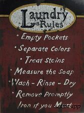 "LS1249 Laundry Rules Linda Spivey 12""x16"" framed or unframed print art"