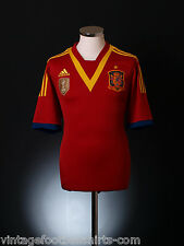 2012-2013 adidas espagne home football soccer jersey top chemise * BNIB *