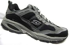 Skechers Vigor 2.0 Training Shoes Charcoal/Black Mens WIDE WIDTH