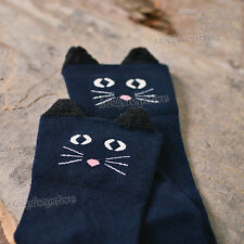 NEW Women Fashion Animal Knee-High Socks 2 styles Bear or Cat legging socks