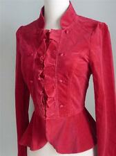 NWT WHITE HOUSE BLACK MARKET Red Velvet Peplum Jacket 4 ( Small ) $138.00