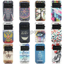 Fashion Open Windows Flip PU Leather Holde Cover Case For Nokia N630 N730