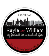 Destination - Round Custom Favor Stickers/Labels - Wedding/Shower  Personalized
