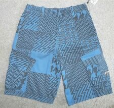 Mens Boys RipCurl Rip Curl Skate Long Cargo Shorts Blue size 26 NWT #0004