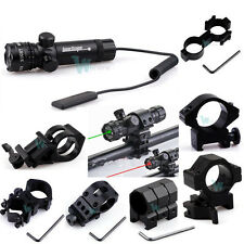 Tactical Green/Red Laser Sight Rifle Dot Scope 980FT Long Range W Switch W Mount