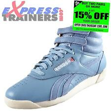 Reebok Classic Womens Girls Freestyle Spirit Hi Top Trainers Blue *AUTHENTIC*