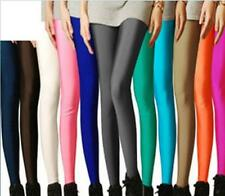 NEW Womens BASIC ULTRA Stretch FOOTLESS SOLID Leggings FULL LENGTH Multi-Color