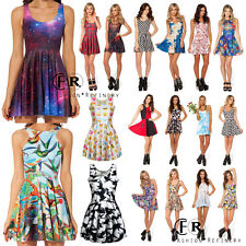 2015 New 3D Graphic Printed Animate Chic Pleated Two Way Singlet Skater Dress