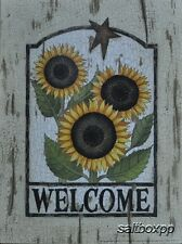 "LS1158 Welcome Sunflowers Linda Spivey 9""x12"" framed or unframed print art"