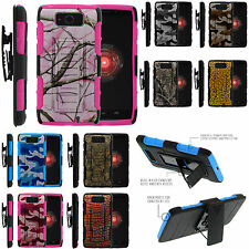 Armor Rugged Stand Holster Combo Clip Case For Motorola Droid Ultra XT1080 Maxx