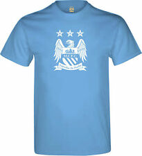 OFFICIAL MANCHESTER CITY FC MAN CITY SKY BLUE MENS T-SHIRT NEW GIFT XMAS