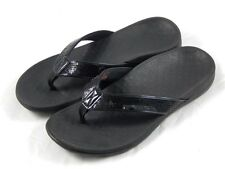 Vionic by Orthaheel Tide Black Sequins Orthotic Thong Sandals PREOWNED